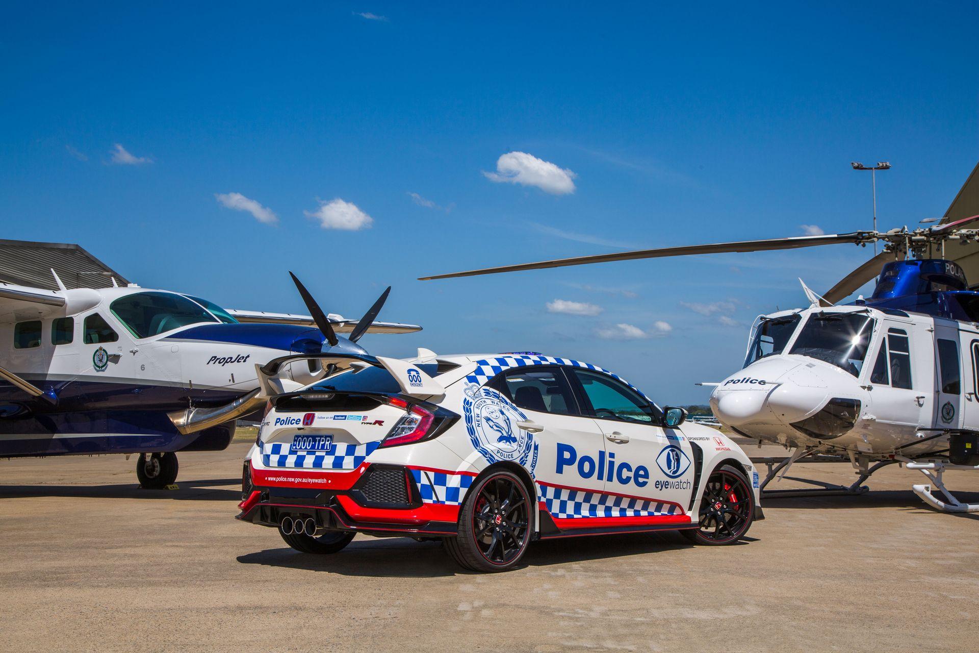 Honda Civic Type R ausztrál rendőrautó