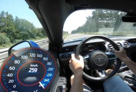 autobahn, ford mustang, gyorshajtás, izomautó, pov video, új mustang