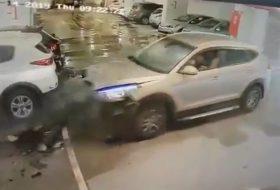 autóbaleset, autós videó, hyundai, kia picanto, terepjáró, új tucson