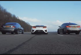 bmw m5 competition, e63 amg, gyorsulási verseny, honda nsx, mercedes-amg, top gear