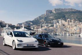 911 gt2 rs, autós videó, gyorsulási verseny, model 3 performance, monaco, monte-carlo, nico rosberg, új porsche, új tesla