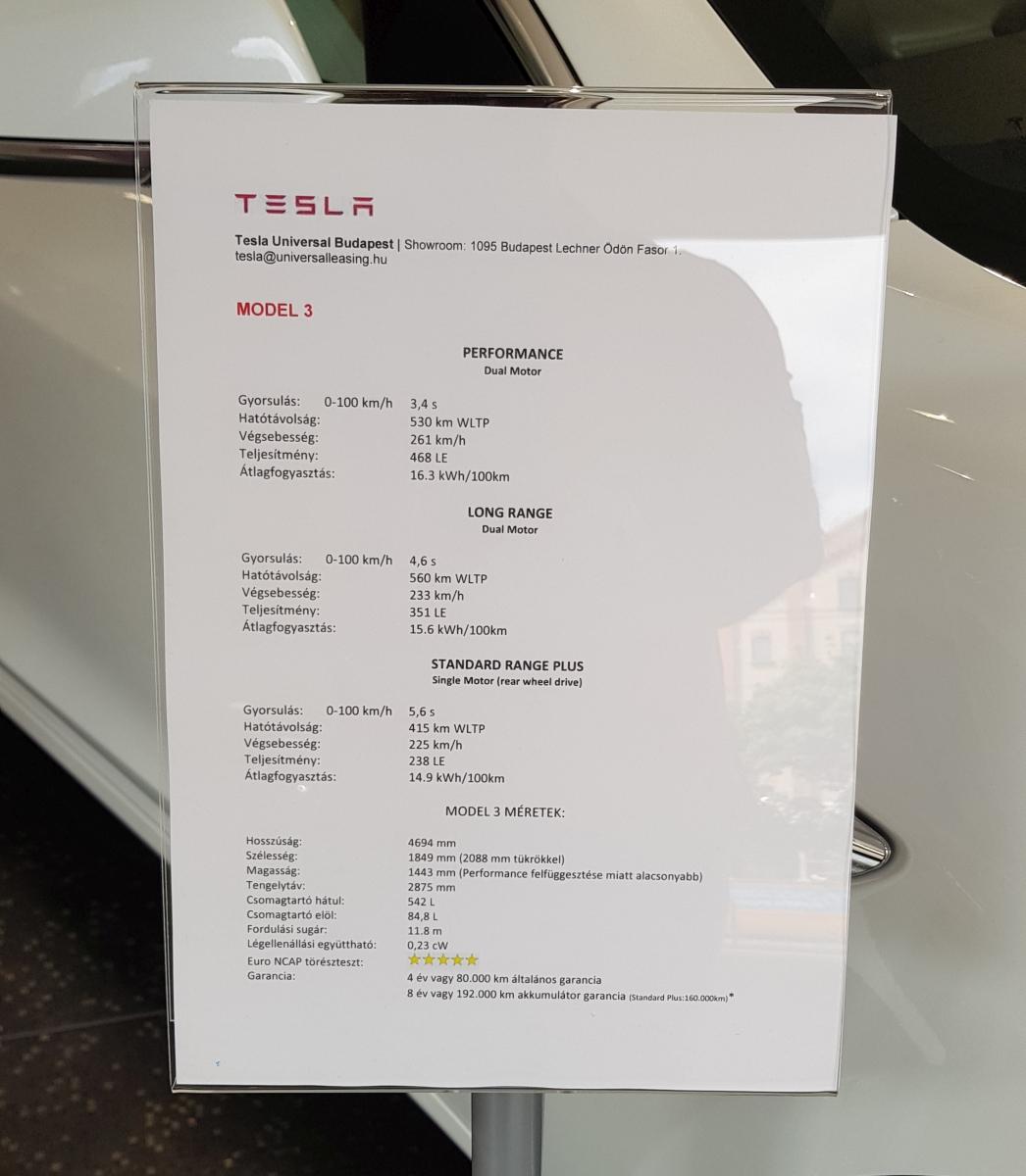 Tesla bemutatóterem Budapesten
