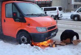 autós videó, ford transit, fuvarozó, téli közlekedés, törökország, vicces