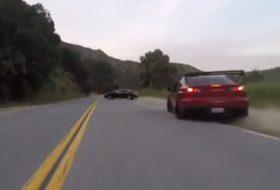 autóbaleset, autós videó, hillclimb, lancer, pov video, új mitsubishi