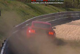 autóbaleset, autós videó, gt350, nürburgring, shelby gt, új ford mustang