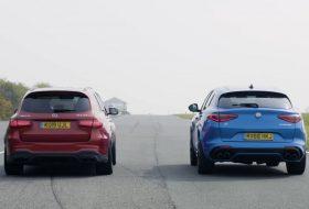 autós videó, glc 63 s, gyorsulási verseny, mercedes-amg, stelvio quadrifoglio, új alfa romeo