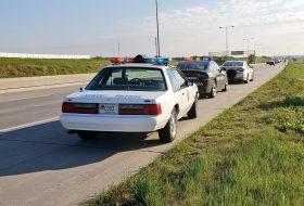 a nap képe, amerika, ford mustang, oldtimer, rendőrautó, ritkaság