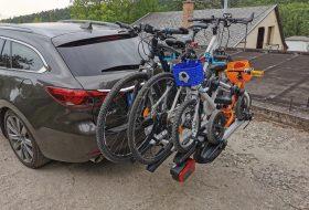 kerékpár, kerékpártartó, suv