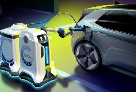 gyorstöltés, mobil robot, töltőállomás, villanyautó, volkswagen