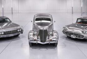 árverés, aukció, continental, deluxe sedan, ford, lincoln, rozsdamentes acél, thunderbird