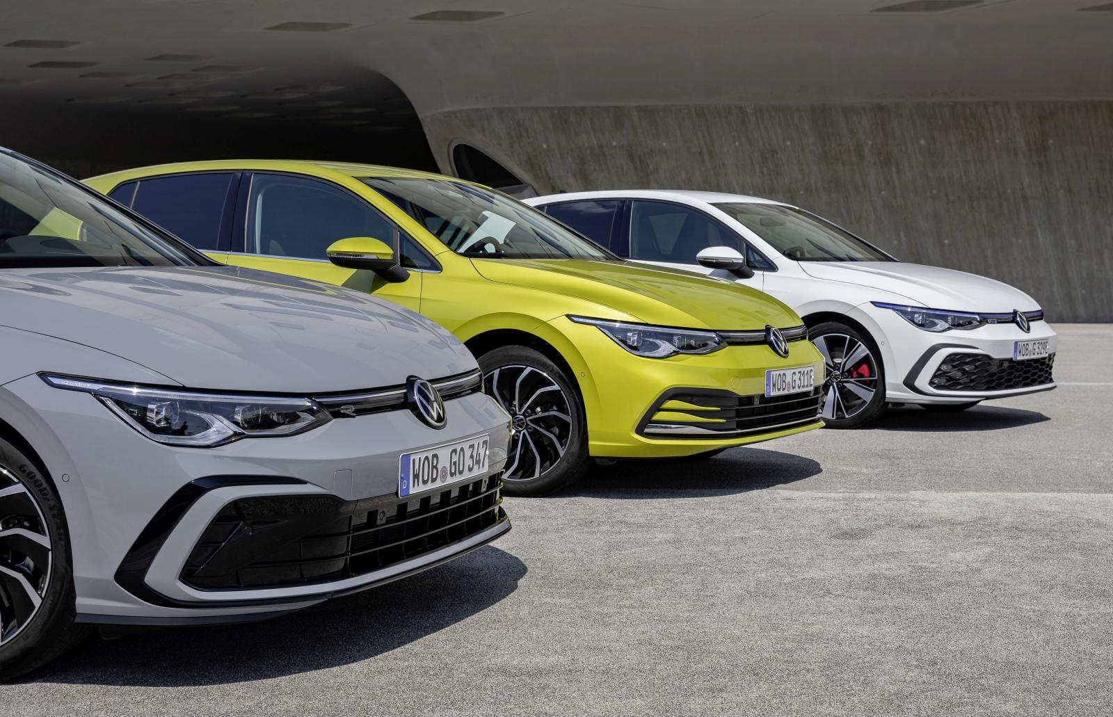 The new Volkswagen Golf 1.5 eTSI, Golf eHybrid and Golf GTE