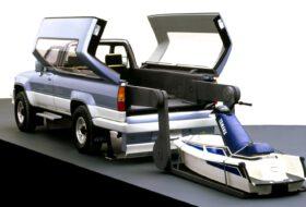 hilux, jet-ski, mobile base, pickup, toyota