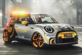 biztonsági autó, cooper se, formula e, mini, mini electric pacesetter