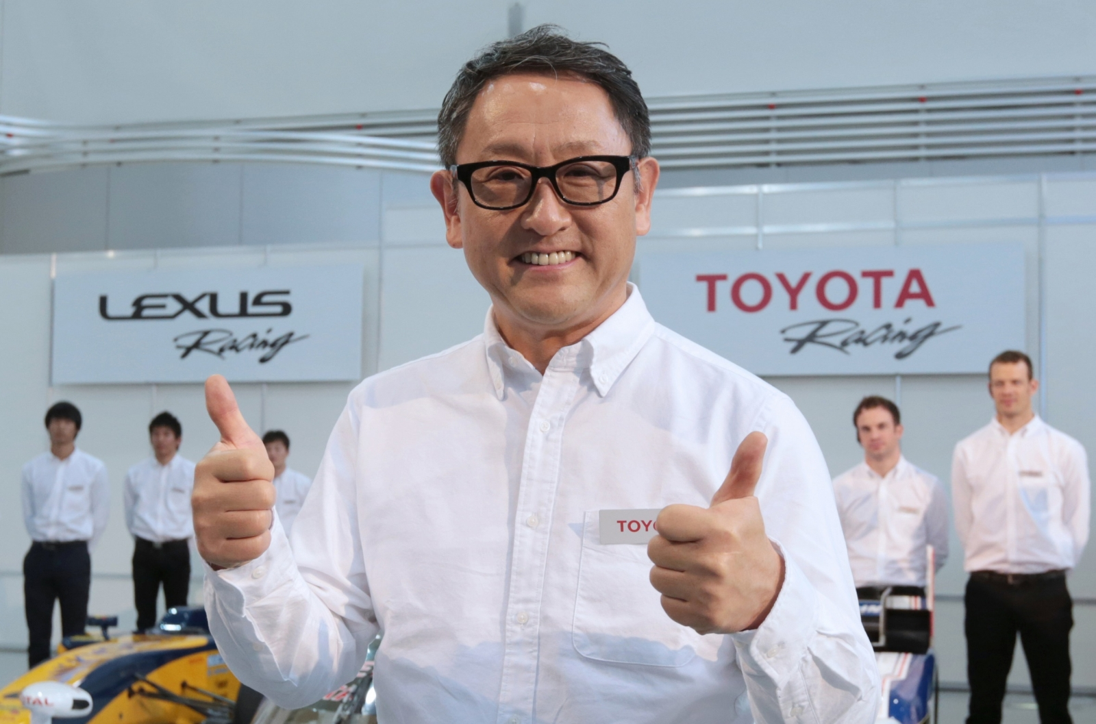 Toyota President Akio Toyoda Attends News Conference On Motor Sports
