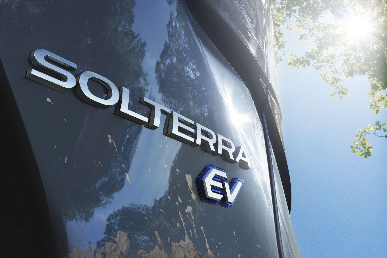 Subaru Solterra teaser rear