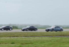 audi, gyorsulás, model s, porsche, rs e-tron gt, taycan turbo, tesla