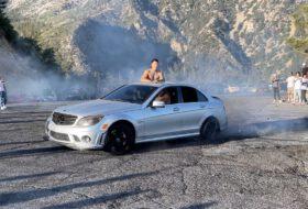 amerika, autós videó, baleset, c 63 amg coupe, drift, mercedes-benz