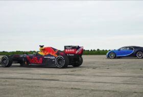 autós videó, bugatti chiron, carwow, david coulthard, gyorsulási verseny, red bull racing