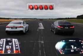 audi rs7, autós videó, bmw m5 cs, gyorsulási verseny, németország