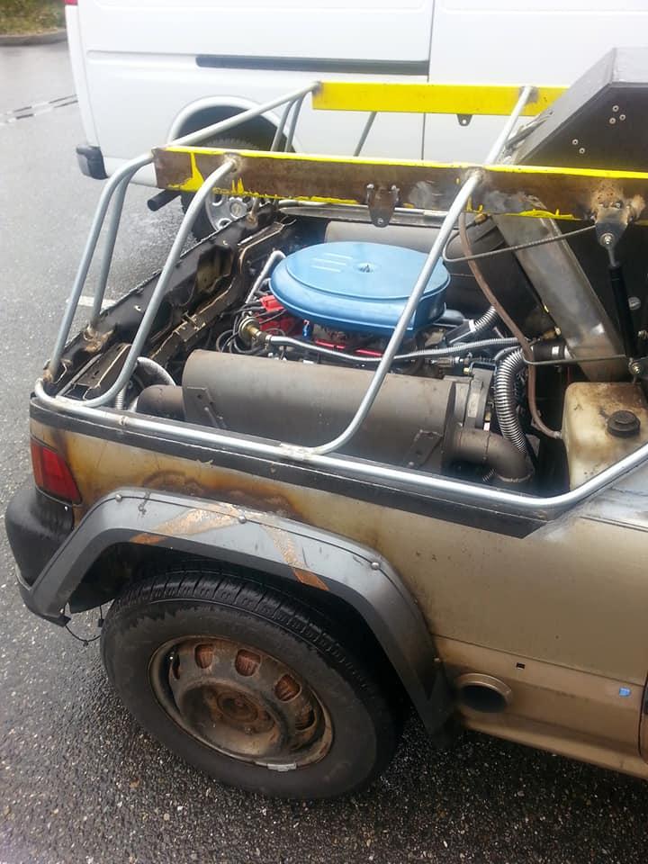 Honda Civic 4gen Oldsmobile V8 motorral