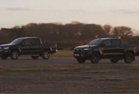 carwow, gyorsulási verseny, pickup, toyota hilux, új amarok, új volkswagen