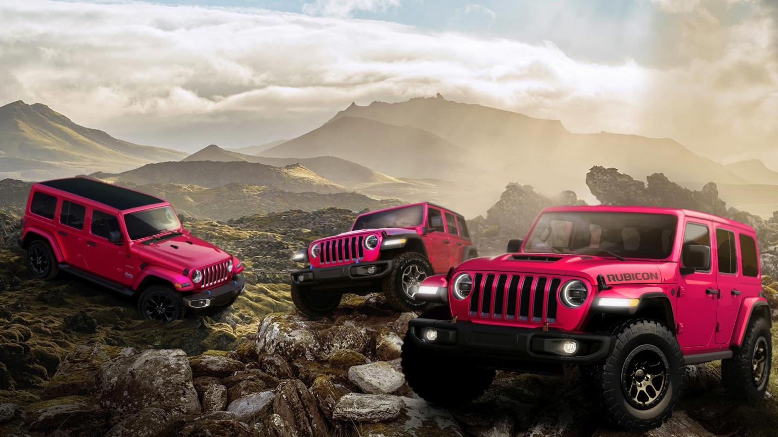 2021 Jeep® Wrangler Sahara 4xe, Wrangler Rubicon 4xe and Wrangl