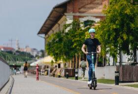 e-roller, elektromos, fenntarthatóság, közlekedés, roller, tier